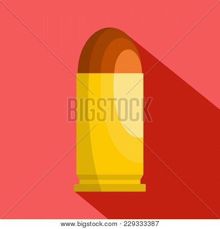 Single Cartridge Icon. Flat Illustration Of Single Cartridge Vector Icon For Web