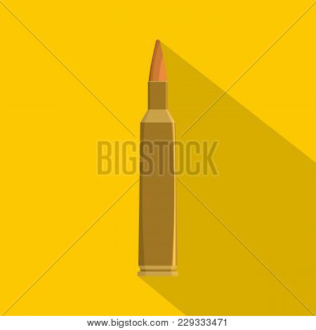 Single Bullet Icon. Flat Illustration Of Single Bullet Vector Icon For Web