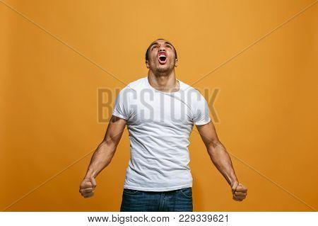 Screaming, Hate, Rage. Crying Emotional Angry Afro Man Screaming On Studio Background. Emotional, Yo
