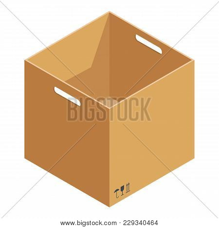 Opened Box Icon. Isometric Illustration Of Opened Box Vector Icon For Web