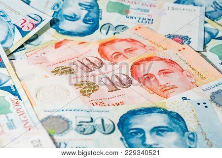 Singapore Dollar, Banknote Singapore On White Background