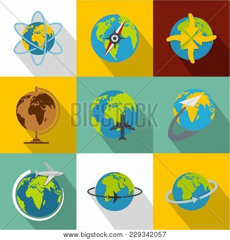Universal Peace Icons Set. Flat Set Of 9 Universal Peace Vector Icons For Web Isolated On White Back