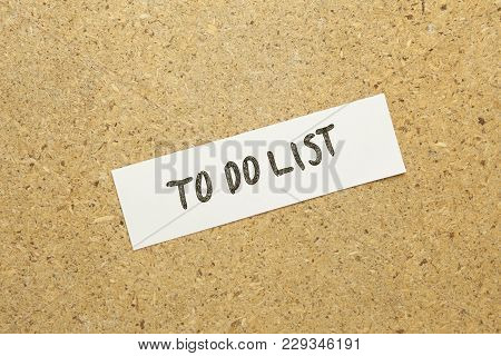 Paper Write To Do List Word On Brown Background