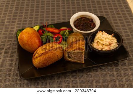 Ploughman's Lunch With Pork Pie.