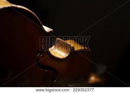 Old Vintage Instrument Lieing On Black Background