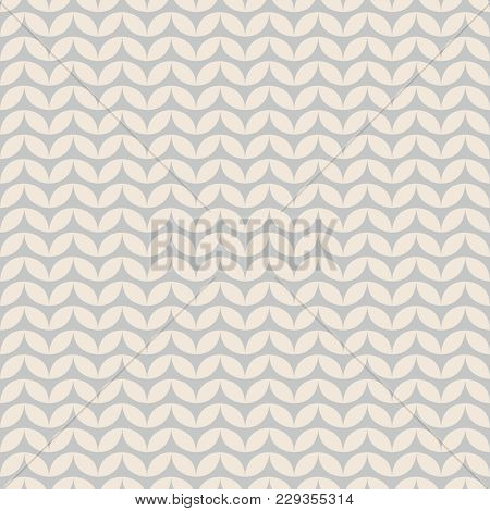Tile Grey And Pastel Knitting Vector Pattern Or Winter Background