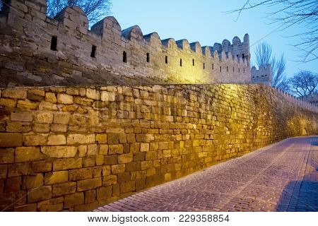 Icheri Sheher Was Included In The Unesco World Heritage List . The Narrow Streets Of Icheri Sheher O