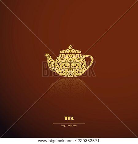 Logo Ornate Teapot Coffee Tea Icon.logo Ornate Teapot Coffee Tea Icon.