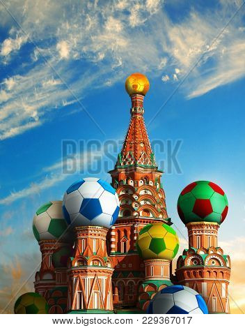 Photo Manipulated Image For Football In Russia.