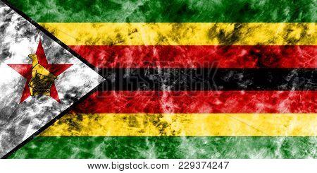 Old Zimbabwe Grunge Background Flag, Zimbabwe Flag