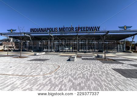 Indianapolis - Circa March 2018: Indianapolis Motor Speedway Gate 1 Entrance. Ims Hosts The Indy 500