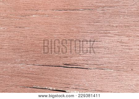 Old wood texture with fissures in brown color. Fissured old paint poster
