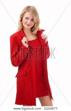 The Young Woman In A Red Coat
