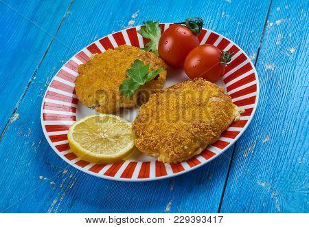 Traditional Irish Cod Fish Cakes , Close Up