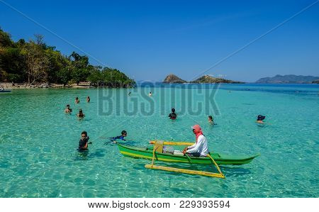 Seascape Of Palawan Island, Philippines