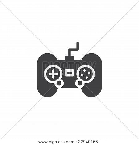 Gamepad Vector Icon. Filled Flat Sign For Mobile Concept And Web Design. Joystick Game Controller Si