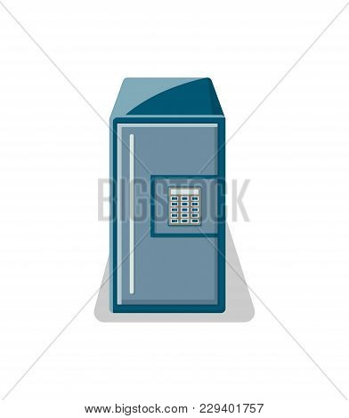 Safe Box With Electronic Combination Lock Icon. Money Storage, Financial Safety, Cash Security, Bank