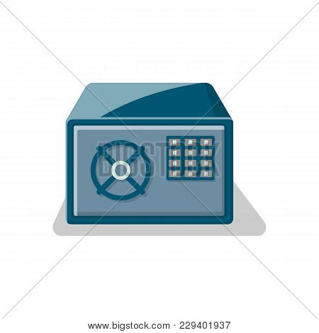 Armored Safe Box With Electronic Combination Lock Icon. Money Storage, Financial Safety, Cash Securi