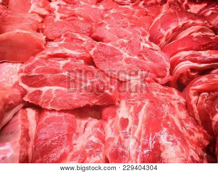 Steaks From Beef And Pork Meat