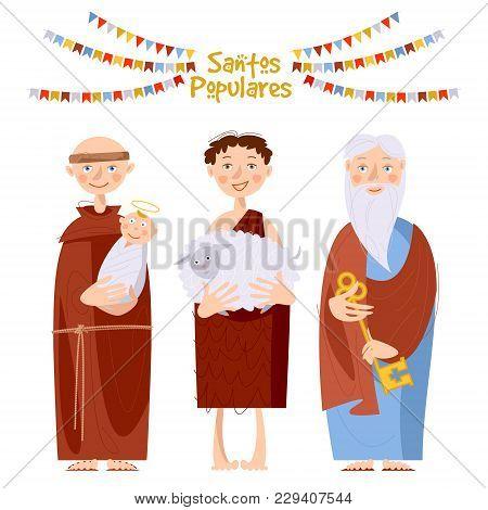 """Portuguese Festival """"santos Populares"""" (popular Saints' ). Santo Antônio, São João, São Pedro (saint"""
