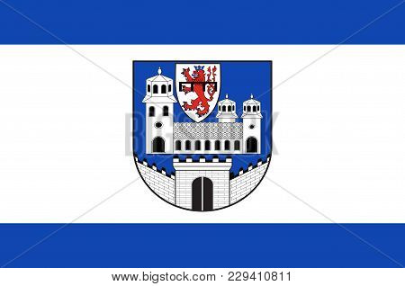 Flag Of Wipperfuerth Is A Municipality In The Oberbergischer District Of North Rhine-westphalia, Ger