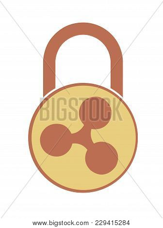 Electronic Security Lock Of Ripple ,vector Icon.   Vector Disign.  Concept  Vector Disign.