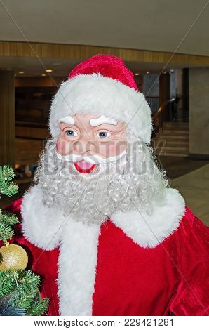 A Sham Of The Papier-mache Santa Claus In Foyer Of Opera And Ballet Theater