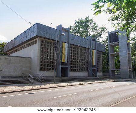 Leipzig, Germany - Circa June 2014: The Propsteikirche St Trinitas Meaning Church Of St Trinity Pari