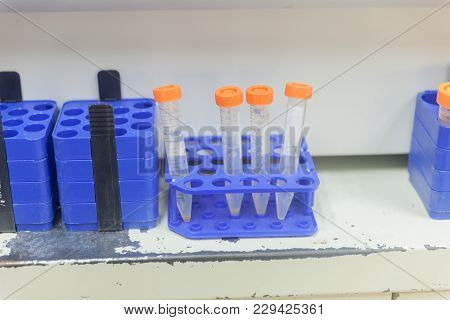 Plastic Centrifuge Tube With Cap In Fume Hood