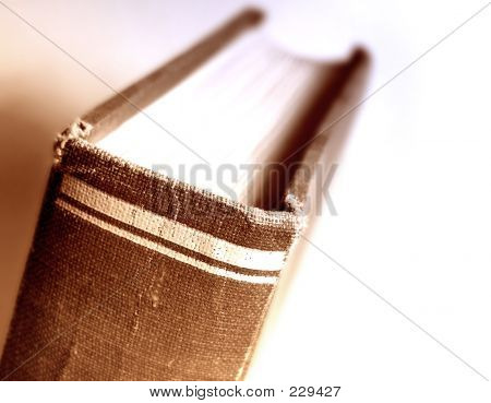 Closeup Of An Old Book