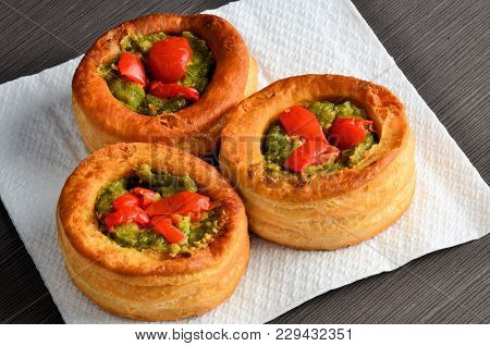 Vol-au-vent With Mushroom And Chicken, Italyrestaurant Meal