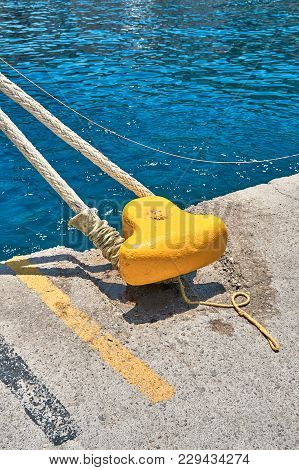 Concrete Mooring With A Bollard
