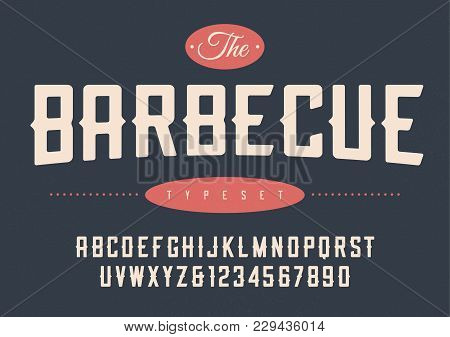Vector Condensed Retro Display Font Design, Alphabet, Character Set, Typeface, Typography, Letters A