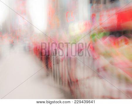 A Bright Abstract Colorful Times Square Bacjground Image.
