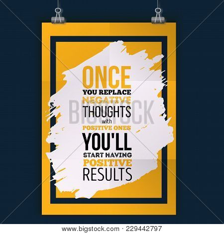 Inspirational Motivational Quote About Results. Vector Simple Design. Poster For Wall.