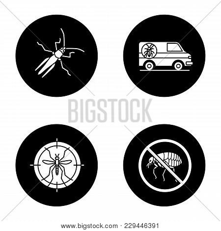 Pest Control Glyph Icons Set