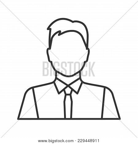 Office Worker Linear Icon. Party Maker, Showman. Businessman, Admin, Manager. Thin Line Illustration