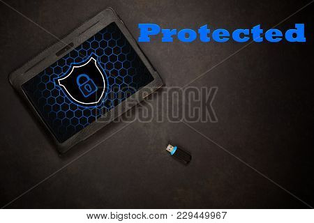 A Protected Tablett With Virus Shield Installed