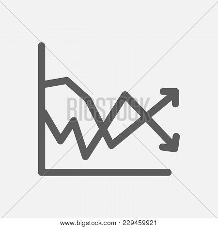 Volatility Icon Line Symbol. Isolated  Illustration Of  Icon Sign Concept For Your Web Site Mobile A
