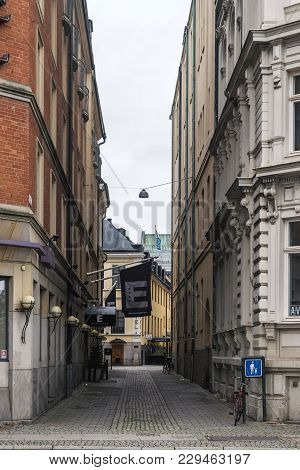 Malmo, Sweden - 22 October 2016: Different Types Of Architectural Structures In The Center Of Malmo,