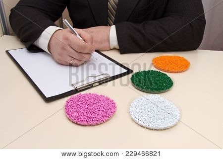 The Entrepreneur Concludes A Contract For The Supply Of Plastic Granules For Industry. Plastic Raw M