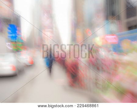 A Colorful Bright Abstract Times Square Image.