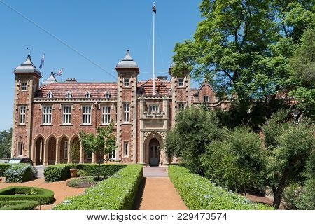 Perth, Australia - January 21, 2018: Government House Of Western Australia In Downtown Perth On Janu