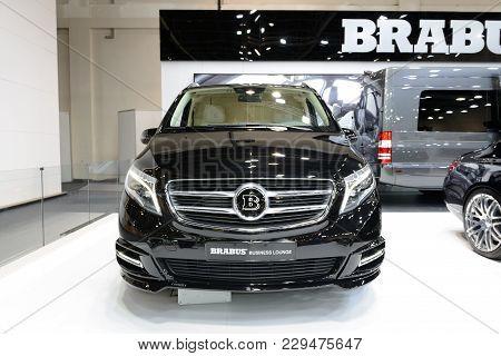 Dubai, Uae - November 18: The Mercedes-benz Brabus V-class Van Is On Dubai Motor Show 2017 On Novemb