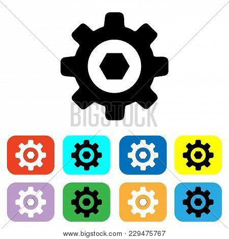 Setting Icon Vector. Cog Vector Icon. Gear Icon Vector. Tools Icon