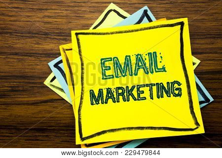 Conceptual Hand Writing Text Caption Inspiration Showing Email Marketing. Business Concept For Onlin
