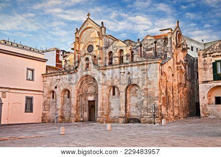 Matera, Basilicata, Italy: The Medieval Church Of San Giovanni Battista (saint John The Baptist) In