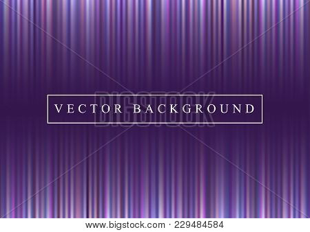 Glowing Lines, Light Rays On Ultra Violet Backdrop. Futuristic Space Abstract Purple Background With
