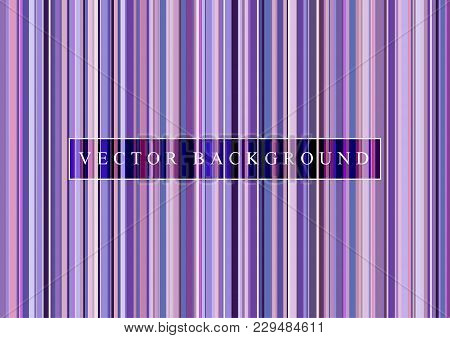 Pattern Vertical Stripe Seamless Ultra Violet. Geometric Purple Lines For Background Image Or Fashio