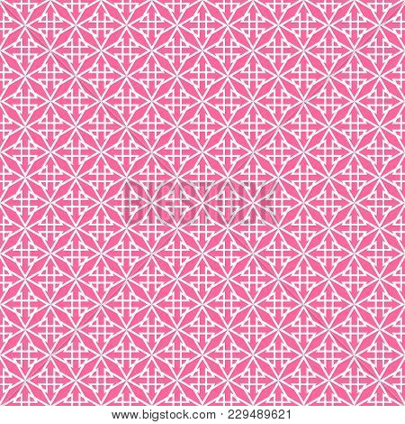 Tile Vector Pattern With Pink Print On White Background